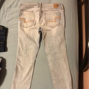 American Eagle skinny holey jeans, size 6